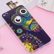 Huawei P8 Lite (2017) / P9 Lite (2017) Noctilucent IMD Owl Pattern Soft TPU Back Case Protector Cover