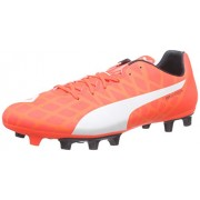 Puma Men's evoSPEED 5.4 FG Lava Blast, White and Total Eclipse Football Boots - 9 UK/India (43 EU)