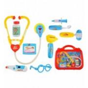 Trusa de medic doctor pentru copii joc educational cu 10 elemente functionale