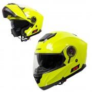 W-tec Výklopná Moto Přilba W-Tec Lanxamo Fluo Yellow Xxl (63-64)