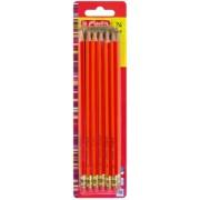 Creion cu guma HB Scolair rosu 24 buc/set Herlitz
