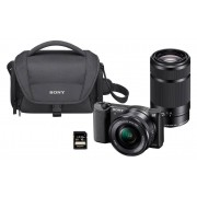 Sony Travel zoom kit Sony Alpha ILCE 5100 + 16-50mm + 55-210mm + Bolsa + Tarjeta SD 16Gb