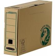 Scatole portaprogetti in cartone Fellowes Bankers Box Earth Series R-Kive Legal - 532375 Scatole porta progetti in cartone 37,4 X 8,5 X 26 cm formato utile 36 X 8 X 25,5 cm dorso 8,5 cm con chiusura a linguetta di colore avana in confezione da 20 Pz.
