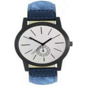 Elife 410 Round Shapped Dial Leather Strap Wrist Analogue Watch For Boys and Men Watch - For Men