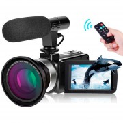 Videocamara Vak 809 Microfono Nocturna 24mp Touch Hdmi Lente Angular