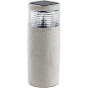 Lunartec Lanterne solaire type pierre modèle ''Maxi Grey Stone''