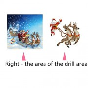 ELECTROPRIME® 5D Diamond Painting Embroidery DIY Cross Stitch Santa Claus Home Decor Gift