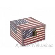 Díszdoboz amerikai kocka 16x16cm