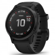 Garmin Smartwatch Fenix 6S Pro Black cu Black Band (42mm, wi-fi, glass)