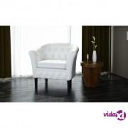vidaXL Chesterfield fotelja bijela