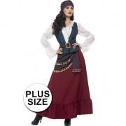Smiffys Grote maten Piraat dames verkleedkleding