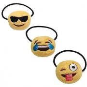 Emoji Ponytail Holder Fun Collection 3 Pack