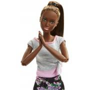 Mattel Barbie Snodata con 22 Punti di Snodo e Abiti da Yoga. Multicolore