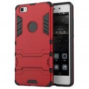 Capa Híbrida com Suporte Removível para Huawei P8 Lite - Vermelho