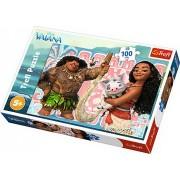 Puzzle clasic pentru copii - Vaiana si prietenii 100 piese