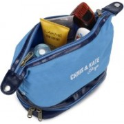 Chris & Kate Multifunctional Toiletry Travel Bag Dopp Kit Organiser Makeup Organizer Cosmetic Case Bag for Men & Women Travel Toiletry Kit(Blue)