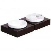 APS Frames Dark Wood Small Square Buffet Bowl Box