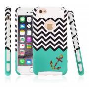EY 1pc Waves Lindo Ancla Caso Duro De La Cubierta De Piel Para El IPhone De Apple 6 4.7 '' Nuevo Color Blanco