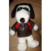 "Peanuts 15"" Snoopy Flying Ace Pilot Stuffed Animal Plush by Determined"