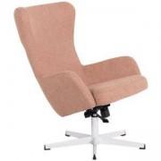 Комплект кресло с табуретка LEXI, Златно бежов, 3550906
