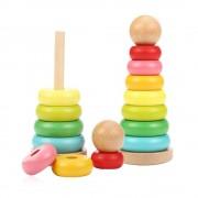 Jucarie turn Montessori din lemn, 21cm, WD 5015