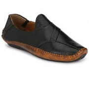 BUCIK Men's Black Synthetics Leather Slip On Casual Loafers