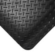Černá gumová protiúnavová průmyslová rohož - délka 1830 cm, šířka 120 cm a výška 1,4 cm FLOMAT