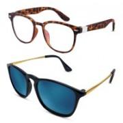 S Jari Wayfarer Sunglasses(Clear, Multicolor)