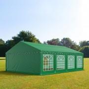 Intent24.fr Tente de réception 4x8m PVC 500 g/m² vert imperméable barnum, chapiteau