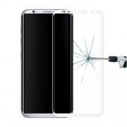For Samsung Galaxy S8 / G9500 0.3mm 9H Surface Hardness 3D Curved Surface Silk-screen Full Screen Tempered Glass Screen Protector Small Quantity Recommended Before Samsung Galaxy S8 Plus / G9550 Launching(White)