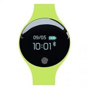 Wangzhy Actividad Dirigida Tracker con la Pantalla táctil del sueño Monitoreo Inteligente a Prueba de Agua Reloj podómetro GPS Track Motion Bluetooth para Android e iOS,Green