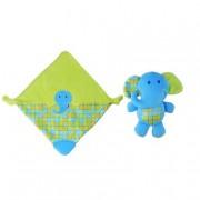 Bruin Baby Bruin - Elefante - Peluche Manta Mordedor