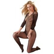 Mandy Mystery Fishnet Crotchless Bodystocking - Black