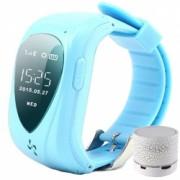 Ceas Smartwatch GPS Copii iUni U11 Telefon incoporat Alarma SOS Blue + Boxa Cadou Bonus Bratara Roca Vulcanica unisex
