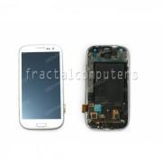 Display cu touch screen si rama Samsung Galaxy S3 (I9300) alb
