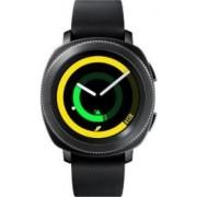 "Smartwatch Samsung Gear Sport SM-R600, Procesor Dual-Core 1GHz, Circular Super AMOLED 1.2"", 768MB RAM, 4GB Flash, Bluetooth, Wi-Fi, Bratara silicon, Tizen (Negru)"