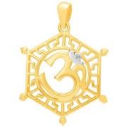 Dare by Voylla Spiritual Saga Divine OM Pendant with Gold Plating