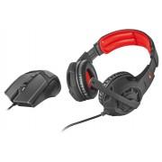 Casti Trust GXT 784 de Gaming + Mouse + Microfon Negru