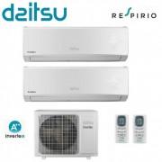 Daitsu Climatizzatore Condizionatore Daitsu Dual Split Inverter Gruppo Fujitsu Asd912ui 9000+12000 Btu Classe A+