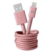 Fresh 'n Rebel USB/Lightning Fabriq cable 1.5m Dusty Pink