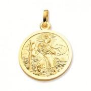 Gouden Christoffel Rond met gladde rand 18 mm 247.0019.18