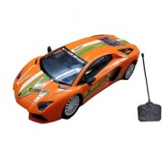 Emob Super Sports Rally Remote Control Racing Car With Front Flashing Light (Orange)