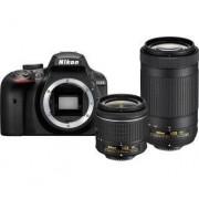 Nikon D3400 + AF-P 18-55 VR + AF-P 70-300 VR (czarny) - 149,95 zł miesięcznie