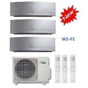 Daikin Climatizzatore Trial Emura 3mxs52e + 3 X Ftxg20ls-W 7+7+7 Wi-Fi