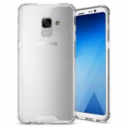 Capa Híbrida Resistente a Riscos para Samsung Galaxy A8+ (2018) - Transparente