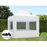 3x3m összecsukható pavilon ablakos Alutec Fehér (Economy)