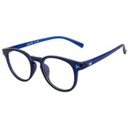 Ivonne Anti-Glare Blue Full Rim Round Eyeglass Frame