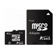 Card de memorie Adata microSDHC AUSDH8GCL4-RA1, 8GB, Clasa 4 + adaptor SD