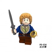 Generic Legoingly DIY Bricks Building Blocks The Lord of The Rings Frodo Baggins Gandalf Aragorn II Model Toy Gift for Girl Kids GK30 PG-534