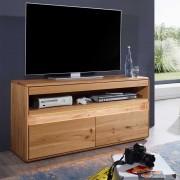 TV Möbel aus Wildeiche Massivholz LED Beleuchtung